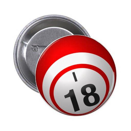 Botón del bingo I 18 Pins