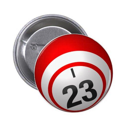 Botón del bingo I 23 Pin