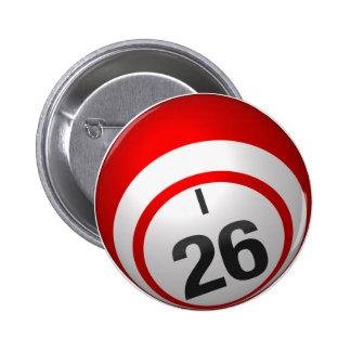 Botón del bingo I 26 Pin