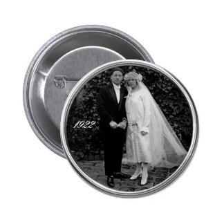 Botón del boda del vintage