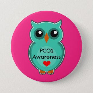 Botón del búho de la conciencia de PCOS