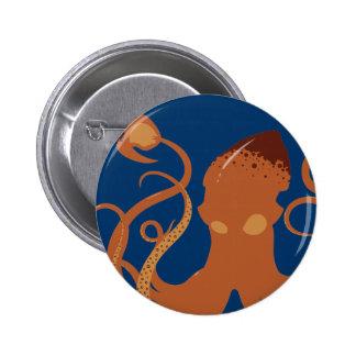Botón del calamar gigante del vector pins