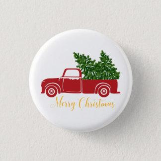 Botón del camión del árbol de navidad pequeño 1