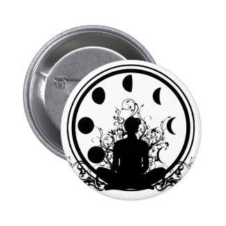 Botón del chica de la yoga pins