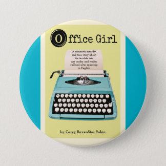 Botón del chica de oficina