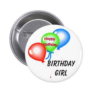 Botón del chica del cumpleaños