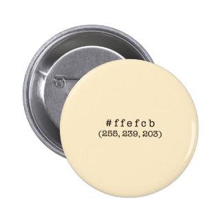 Botón del círculo del #ffefcb