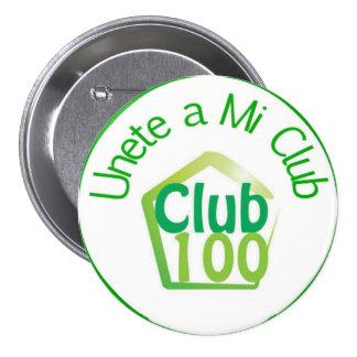 Botón del club 100 pin