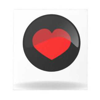 Botón del corazón bloc de notas
