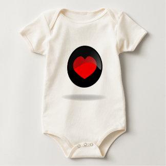 Botón del corazón body para bebé