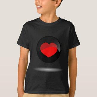 Botón del corazón camiseta