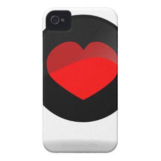Botón del corazón funda para iPhone 4