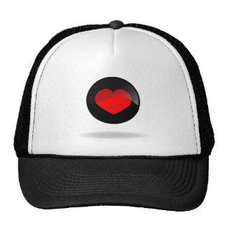 Botón del corazón gorra