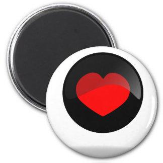 Botón del corazón imanes