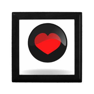 Botón del corazón joyero