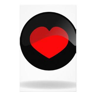 Botón del corazón papeleria personalizada