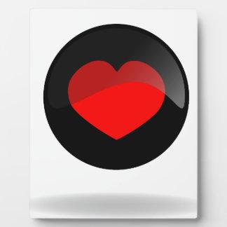 Botón del corazón placa expositora