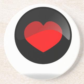 Botón del corazón portavasos