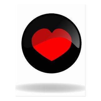 Botón del corazón postal