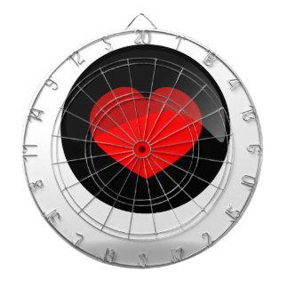 Botón del corazón tabla dardos