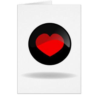 Botón del corazón tarjeta de felicitación