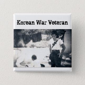 Botón del cuadrado del veterano de Guerra de Corea