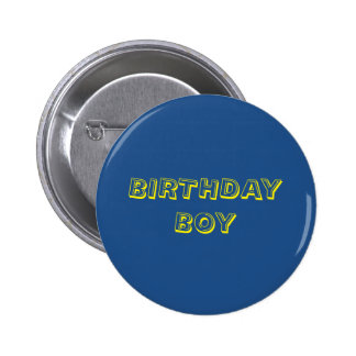 Botón del cumpleaños chapa redonda 5 cm