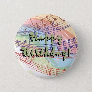 Botón del cumpleaños de la música
