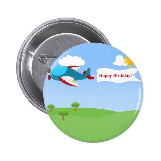 Botón del cumpleaños del muchacho de la bandera de pins