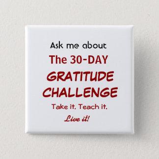 Botón del desafío de la gratitud