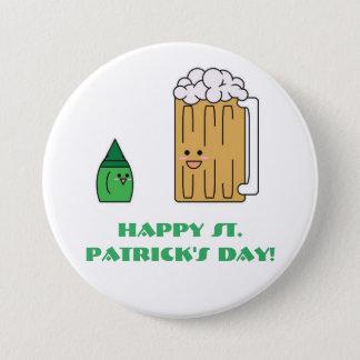 Botón del día de St Patrick lindo