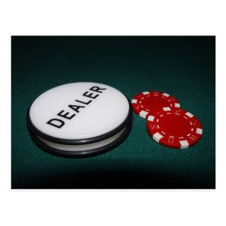 Botón del distribuidor autorizado del póker postal