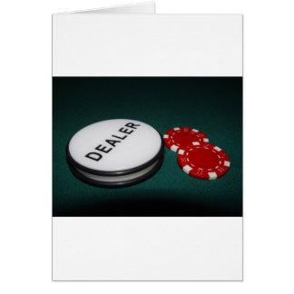 Botón del distribuidor autorizado del póker tarjeta