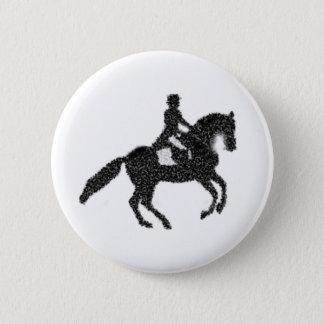 Botón del Dressage - caballo y jinete del mosaico