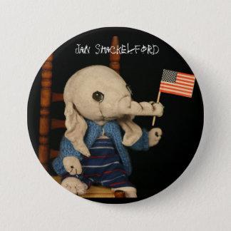 Botón del elefante de enero Shackelford
