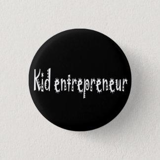 botón del empresario del niño del negro
