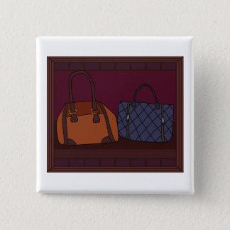 Botón del escaparate del boutique del bolso
