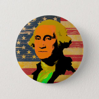 Botón del Estallido-Arte de la bandera americana