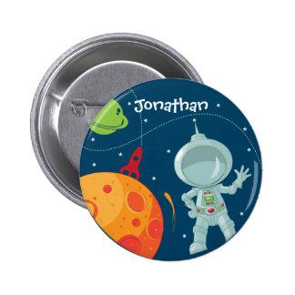 Botón del favor del cumpleaños del astronauta del  pin