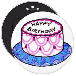 ¡Botón del feliz cumpleaños!!!!! Chapa Redonda 15 Cm