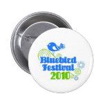 Botón del festival del Bluebird Pin