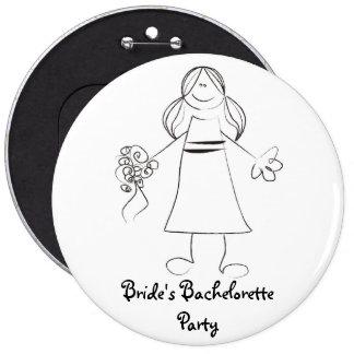 Botón del fiesta de Bachelorette de la novia