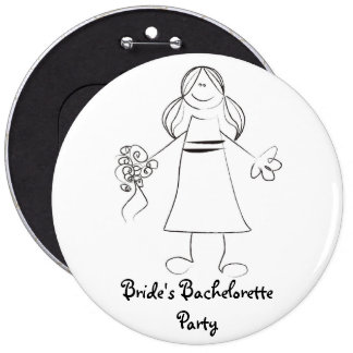 Botón del fiesta de Bachelorette de la novia Pins