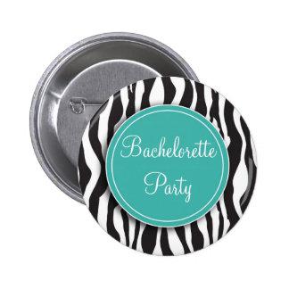 Botón del fiesta de Bachelorette del estampado de  Pin