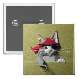 Botón del gatito #2 del pirata