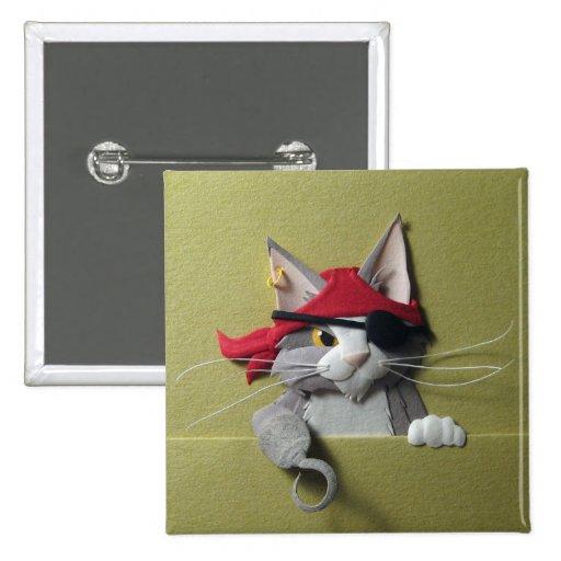 Botón del gatito #2 del pirata pins