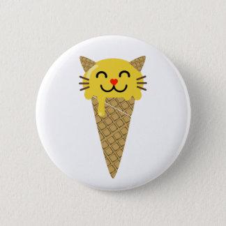Botón del gato del helado de Emoji