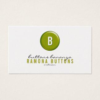 Botón del globo tarjeta de visita