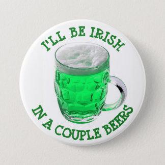Botón del humor del alcohol del día de St Patrick