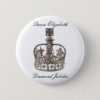 Botón del jubileo de diamante de la reina